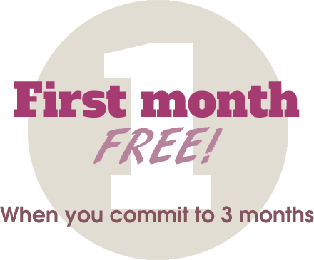 First month website updates free when you commit to 3 months