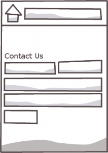 Web-to-email contact us form on website